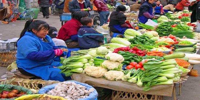 Wiki Juices - The farmers market Potala Lhasa Tibet