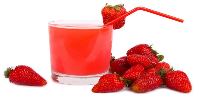 Wiki Juices - Strawberry juice and strawberries