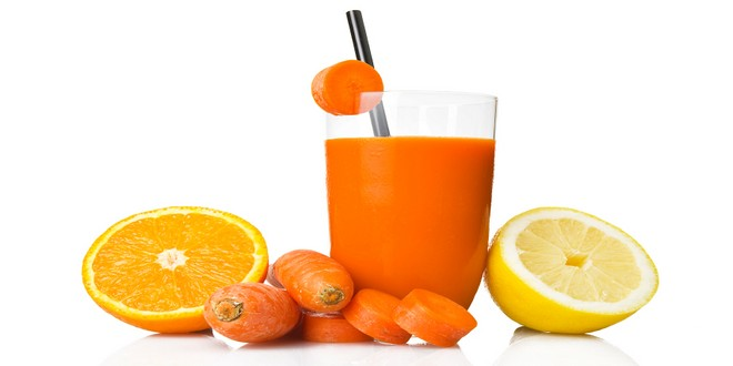 Wiki Juices - Make carrot juice with lemon and orange