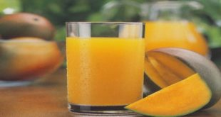 Wiki Juices - Glass with mango juice
