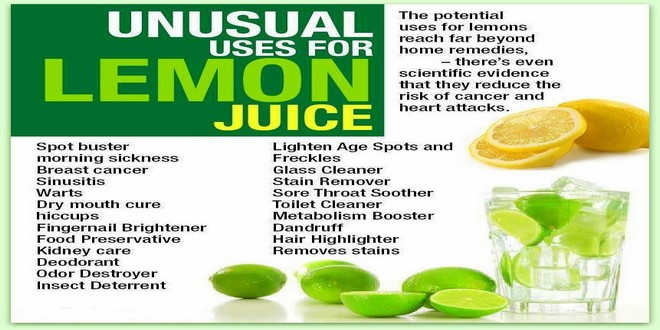 Wiki Juices - Unusual uses for lemon juice