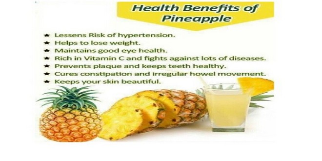 Wiki Juices - Health benefits of pineapple juice