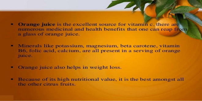 Wiki Juices - Orange juice health benefits